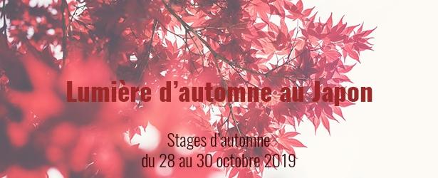 Stages des vacances d'automne 2019 sur le thème des lumière d'automne au Japon, du 28 au 30 octobre aux Ateliers de l'escalier à Soignies