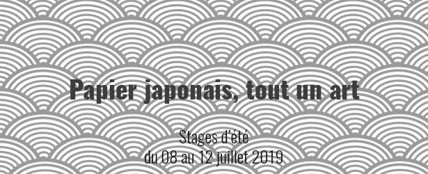 Stages créatifs pendant l'été (juillet 2019) à Soignies. Thème : l'art du pliage japonais et le papier japonais