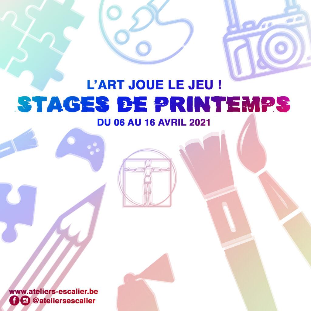 Stage de Printemps 2 - du 12 au 16 avril 2021
